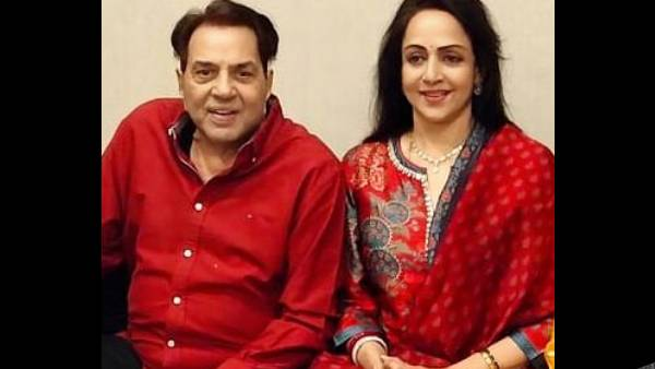 Hema Malini's Birthday Celebration Pictures With Dharmendra Screams Love, The Couple Twins In Red