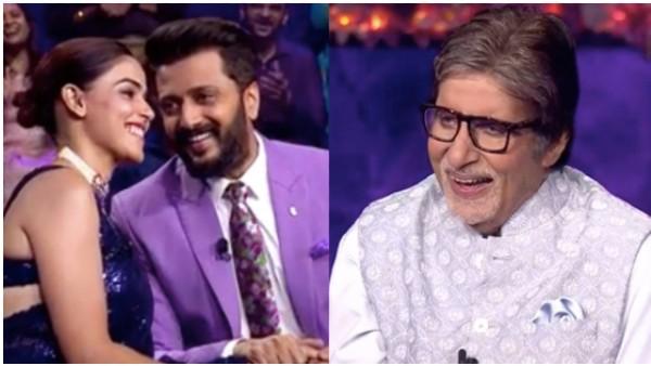 Kaun Banega Crorepati 13: Genelia D'Souza And Riteish Deshmukh Grace The Amitabh Bachchan Show