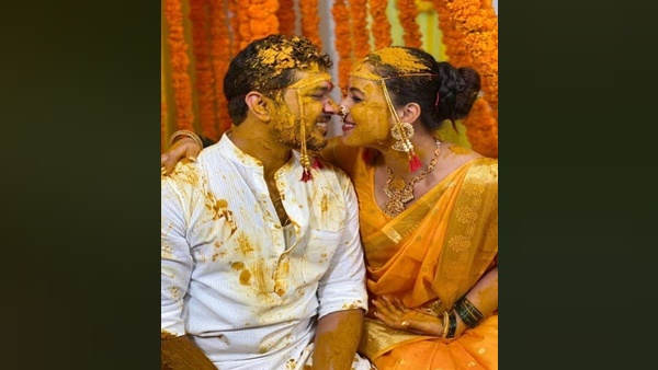 Suyash Tilak And Aayushi Bhave's Haldi Ceremony Pictures Out! SuyaShi Look Amazing Together