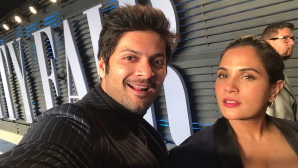 Richa Chadha Surprises Beau Ali Fazal On His Birthday On His Set In Delhi