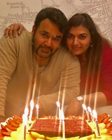 JUST IN: Mohanlal With His Wife Suchitra