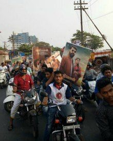 Calicut Mammootty Fans On A Promotional Spree Of ' The Great Father'