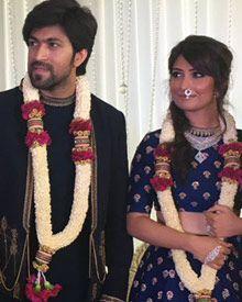 Yash - Radhika Pandit Engagement Photos