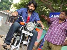 JUST MISS: Prajwal Devraj And Bullet Prakash Escapes From A Road Accident!