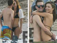 Miranda Kerr & Beau Evan Spiegel's PDA Packed Beach Vacation
