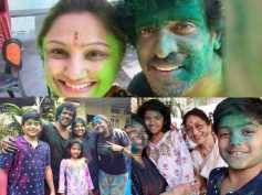 PICS: Mr & Mrs Upendra Celebrate Holi With Family And Friends!