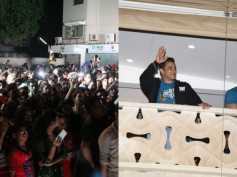 Pics! Fans Go Berserk Outside Salman Khan's Home After Tubelight Trailer Release