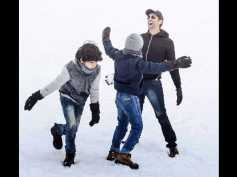 Hrithik Roshan Plays In The Snow With Hrehaan & Hridhaan! View Pictures