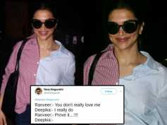 Deepika Padukone Gets Trolled Royally For Her Ridiculous Airport Shirt! Very Funny