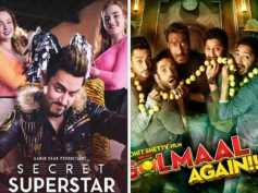 Secret Superstar & Golmaal Again: Monday Box Office Collection!