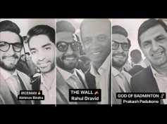 Ranveer Singh Meets Deepika Padukone's Father Prakash Padukone & Other Sportsmen! View Pics
