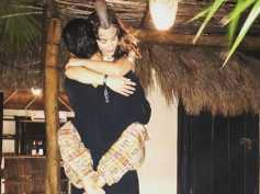 Amy Jackson Jumps On A Mystery Man's Arms & Passionately Hugs Him Tight! But, Who Is He?