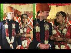 WEDDING PICTURES! Shriya Saran Makes For A Pretty Bride With 'Dulha' Andrei Koscheev By Her Side