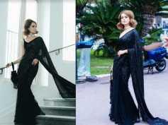 Cannes 2018: Kangana Ranaut Takes Us Back To The Vintage Era In A Stunning Black Sabyasachi Sari!