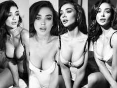 Amy Jackson Raises The Temperature In Her Latest Black & White Shoot! Pictures