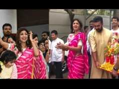 Shilpa Shetty Bids Farewell To Ganpati Bappa With A Blockbuster Visarjan, Dances Her Heart Out!