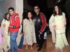 Abhishek Bachchan & Shweta Nanda Bachchan, Karan Johar At Ekta Kapoors Sons Naming Ceremony