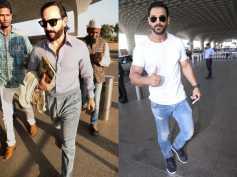 Saif Ali Khans Classy Airport Avatar; John Abraham Also Snapped At The Airport