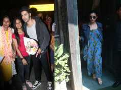 Varun Dhawan Receives Flowers From A Fan At Airport; Alia Bhatt Goes Out For Sunday Lunch
