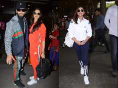 Ranveer Singh & Deepika Padukone Walk Hand In Hand At Airport; Parineeti Chopra Casual Airport Look