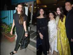 Madhuri Dixit Looks Gorgeous As She Poses With Asha Bhosle; Karishma Kapoor After A Salon Session
