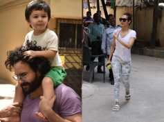 Taimur Looks Happy Getting A Piggy Back Ride On Dads Shoulder; Malaika Arora Snapped After Gym