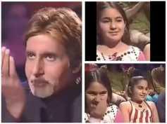 #Throwback! 12-Yr-Old Sara Ali Khan Greeting Big B With An Adaab On Kaun Banega Crorepati Goes Viral
