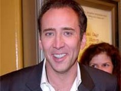 Nicolas Cage sporting blond hairstyle