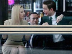 Robert Pattinson's funny expression on Cosmopolis set