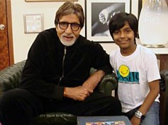 Amitabh Bachchan meets I Am Kalam star Harsh Mayar