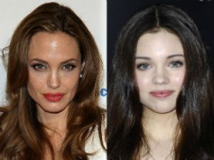 India Eisley playing young Angelina Jolie in Maleficent