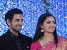 See Pictures: Samvrutha Sunil-Akhil Raj's wedding reception