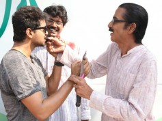 Pictures: Manobala celebrates birthday with Vijay and Vijay