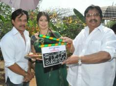 Photos: Arjun, Lakshmi start shooting for Rani Ranamma