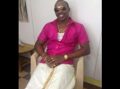 Pics: Dwayne Bravo Sports Vesthi To Shoot Tamil Song