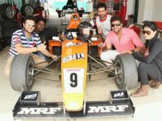 Arun Vijay's Vaa Deal Logo In Formula 3 Race Car