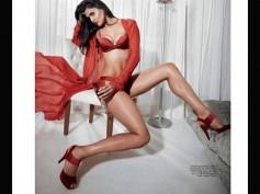 Nathalia Kaur Seductive In Red Lingerie Photoshoot For Maxim