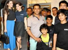 Pics: Salman Khan's Hosts Screening Of Kick For Family And Crew
