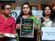 Pics: Rani Mukerji Visits Anti-Trafficking NGO In Delhi