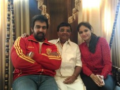 Chiru Sarja And Meghana Raj In Dwarakish's Movie