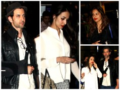 Spotted: Hrithik Roshan, Bipasha, Malaika At International Airport