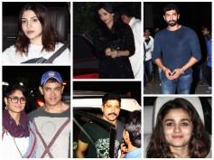 Pics: Aishwarya, Alia, Bollywood Celebs At Ranbir-Katrina's Pre-Christmas Party