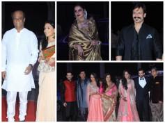 Pics: Rajinikanth, Bollywood Celebs At Sonakshi's Brother's Wedding Reception
