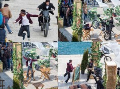 Leaked Pics: Shahrukh Khan Chased By Bike On The Sets Of Fan