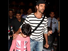 Spotted: Hrithik Roshan Returning From Maldives With Kids
