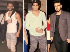Spotted: Ranveer Singh, Sidharth Malhotra And Arjun Kapoor & Celebs