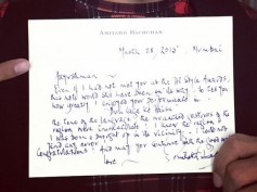 Ayushmann Khurrana Shows Off Amitabh's Letter On Dum Laga Ke Haisha