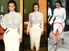 Kim Kardashian Shows Her Curves & Spanx At Selfish Book Signing
