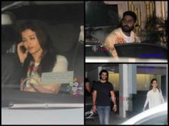 Pics: Aishwarya Rai & Abhishek Bachchan's Piku Movie Date