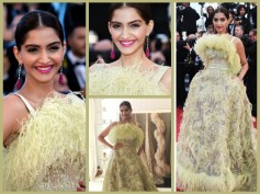 Cannes 2015: Sonam Kapoor Shines In A Mediocre Dress At Red Carpet